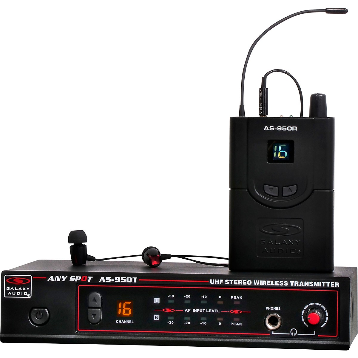 Galaxy Audio AS-950-4 Wireless In-Ear Monitor Band Pack (N Band)-518-542  MHz