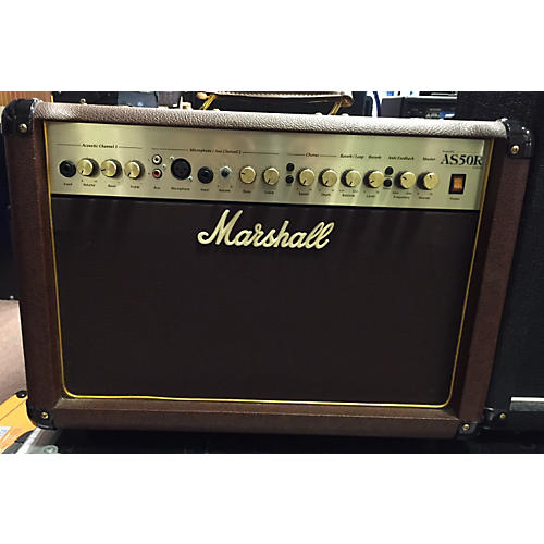 Marshall AS50R 50W 2X8 Brown Acoustic Guitar Combo Amp