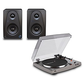 audio technica at lp2x record player with sterling audio 3 monitors guitar center. Black Bedroom Furniture Sets. Home Design Ideas