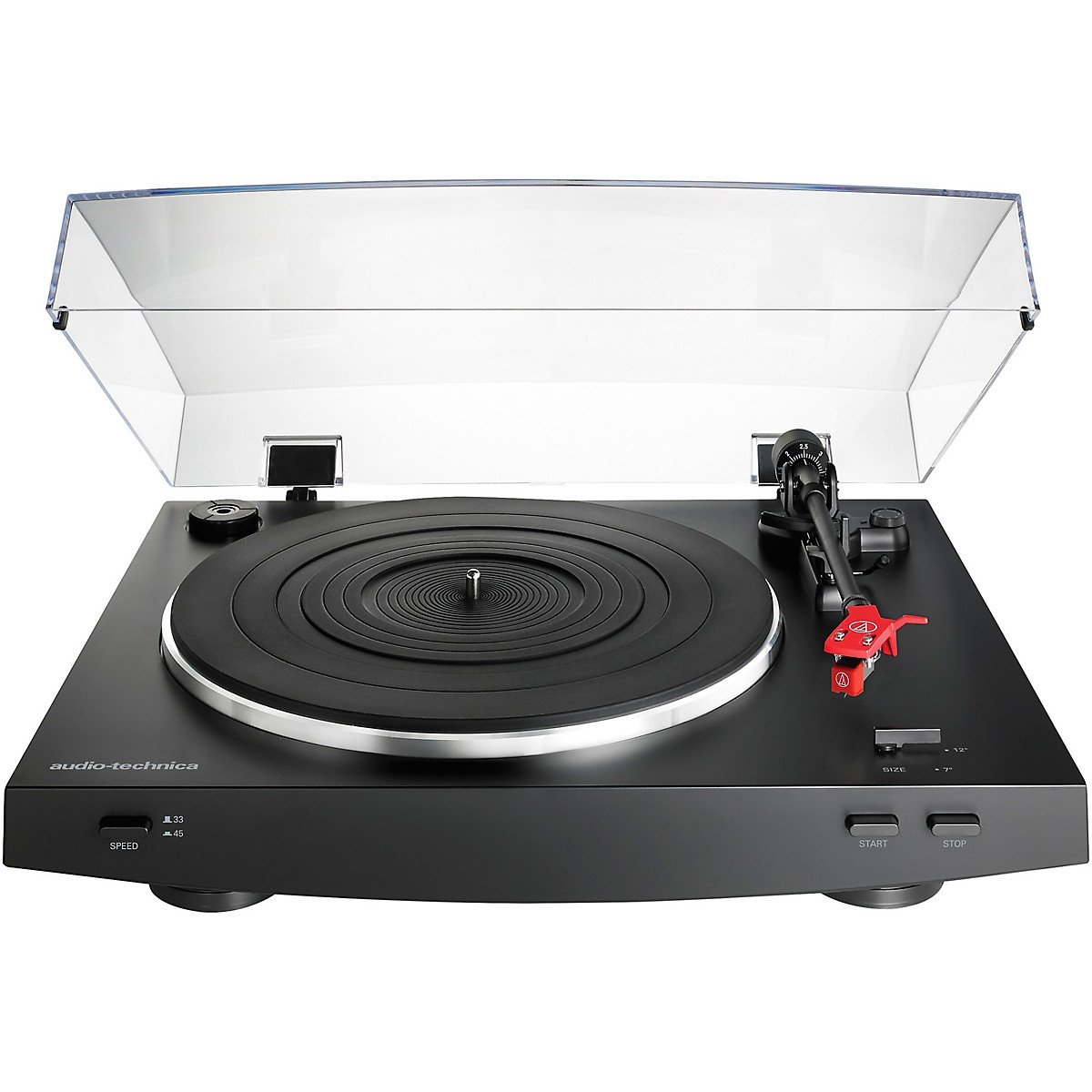 Audio-Technica AT-LP3BK Automatic Belt-Drive Stereo Record Player Turntable