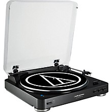 Audio-Technica AT-LP60BK-BT Fully Automatic Wireless Belt-Drive Stereo Record Player