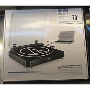 used audio technica at lp60bk usb record player guitar center. Black Bedroom Furniture Sets. Home Design Ideas