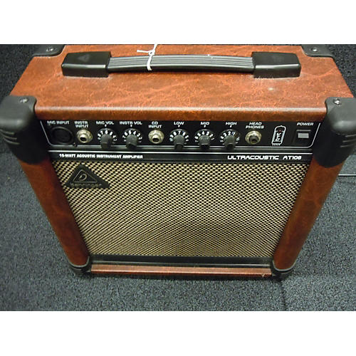Behringer AT108 1X8 15W Ultracoustic Acoustic Guitar Combo Amp
