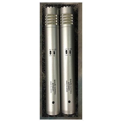 Audio-Technica AT3031 INSTRUMENT CONDENSER PAIR Silver Condenser Microphone