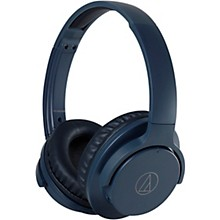 ATH-ANC500BT QuietPoint Wireless Active Noise-Cancelling Headphones Navy