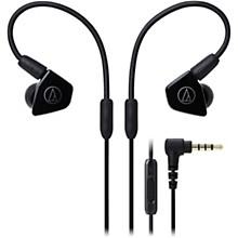 Audio-Technica ATH-LS50ISBK In-Ear Dynamic Drive Headphones in Black