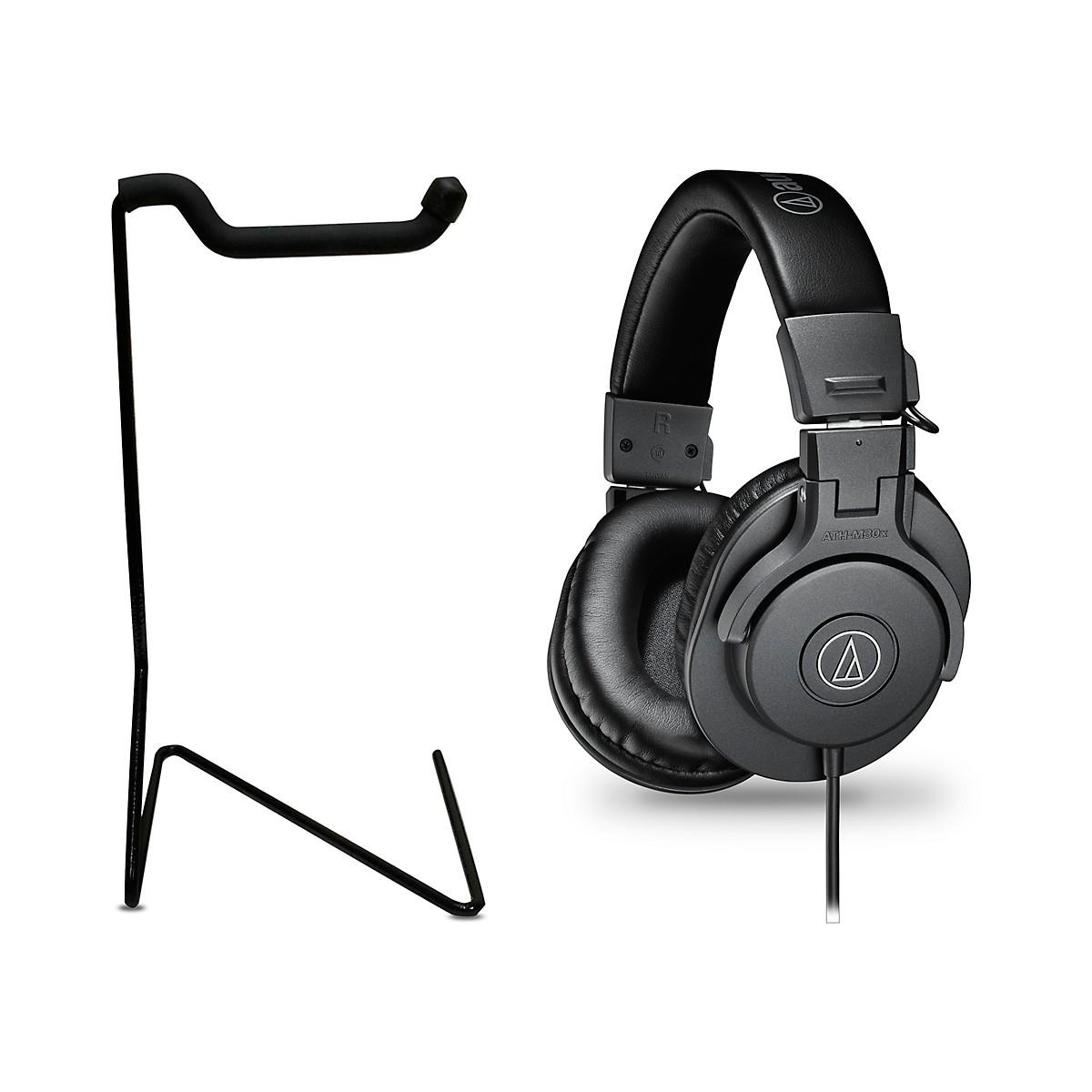 Audio-Technica ATH-M30x Studio Monitor Headphones with Stand