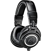 ATH-M50xWH Closed-Back Professional Studio Monitor Headphones Black