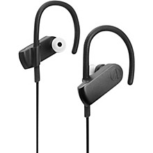 Audio-Technica ATH-SPORT70BTBK Sonicsport IPX5 In-Ear Bluetooth Headphone in Black