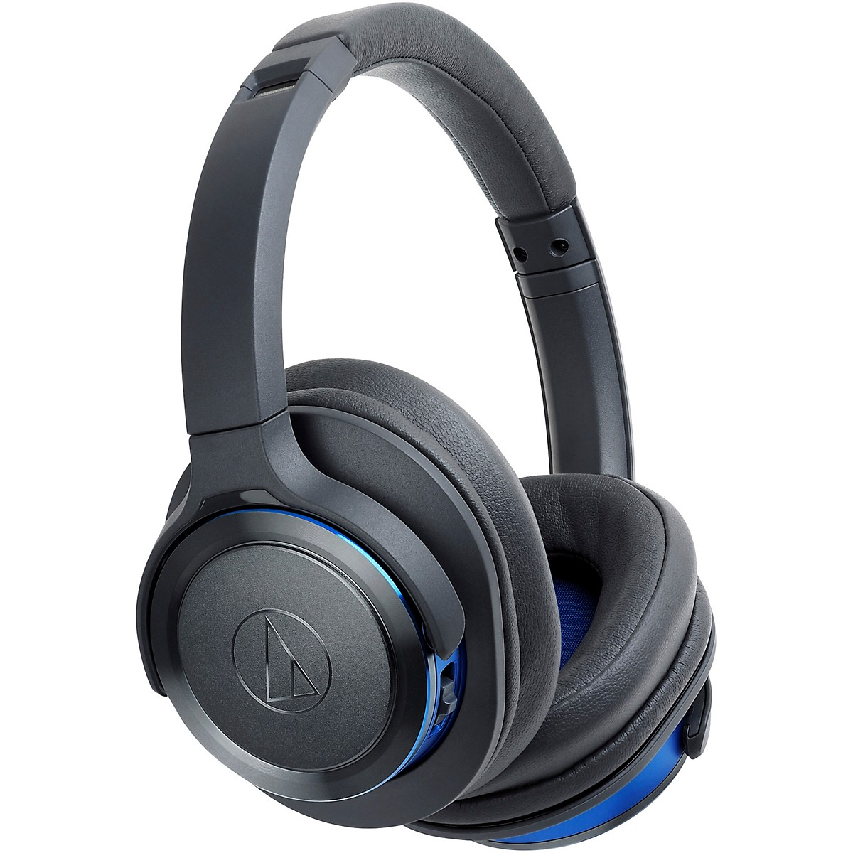 Audio-Technica ATH-WS660BTGBL Solid Bass Over-Ear Bluetooth Headphone in Blue/Gray