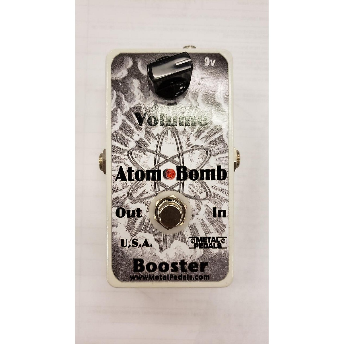 Metal Pedals ATOM BOMB BOOSTER Effect Pedal