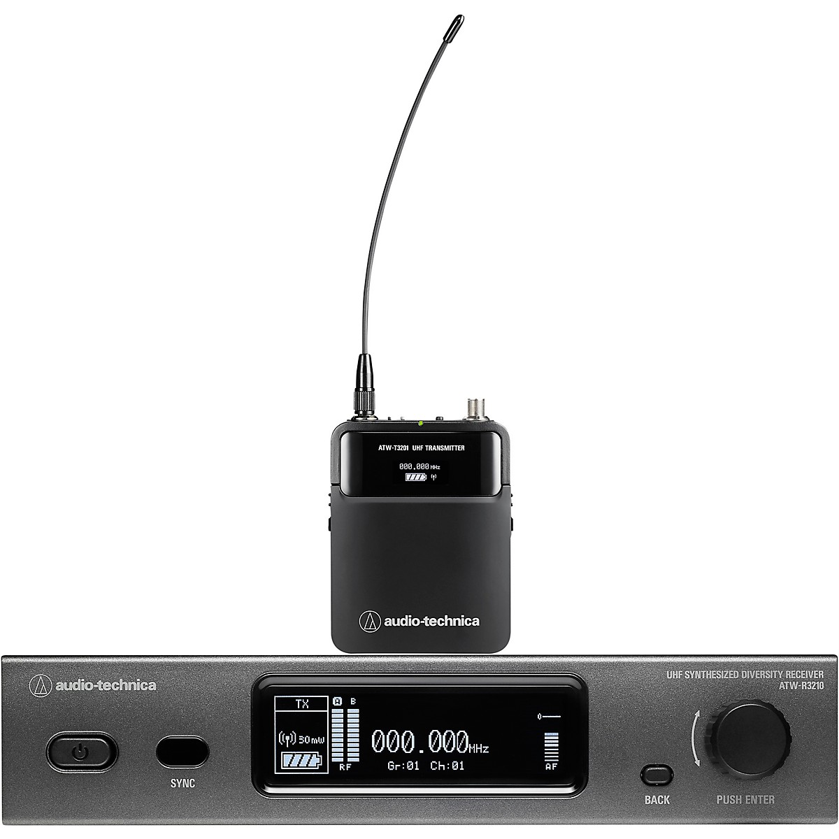 Audio-Technica ATW-3211 3000 Series Frequency-agile True Diversity UHF Wireless Systems