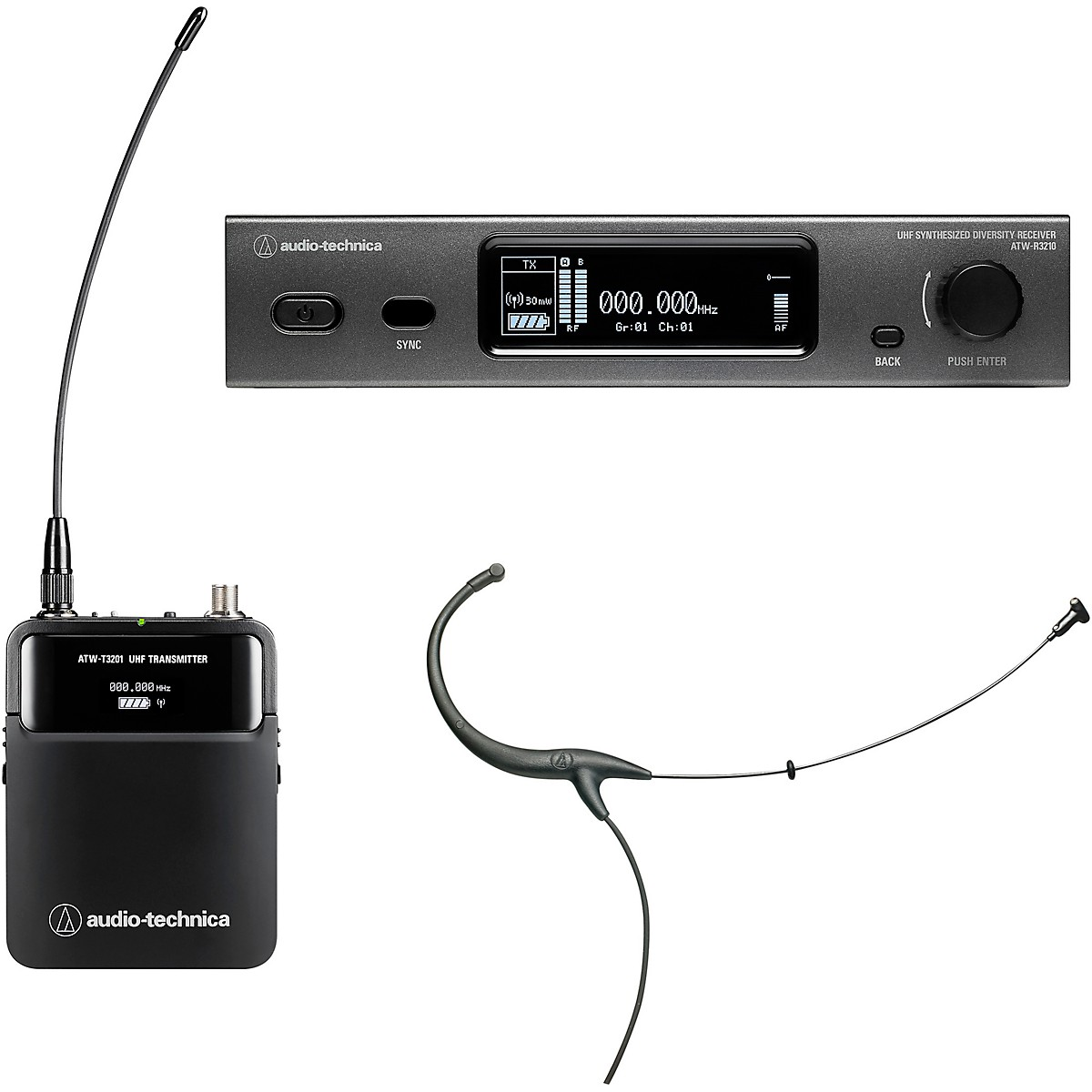 Audio-Technica ATW-3211/894 3000 Series Frequency-agile True Diversity UHF Wireless Systems