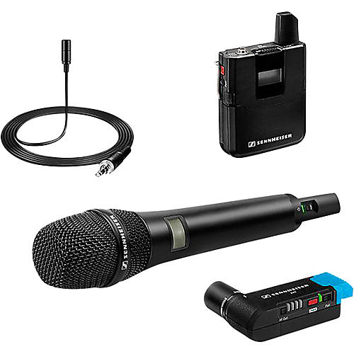 Sennheiser AVX COMBO-SET-4-US Handheld Microphone Wireless Systems with EKP Receiver and ME 2 Lavalier