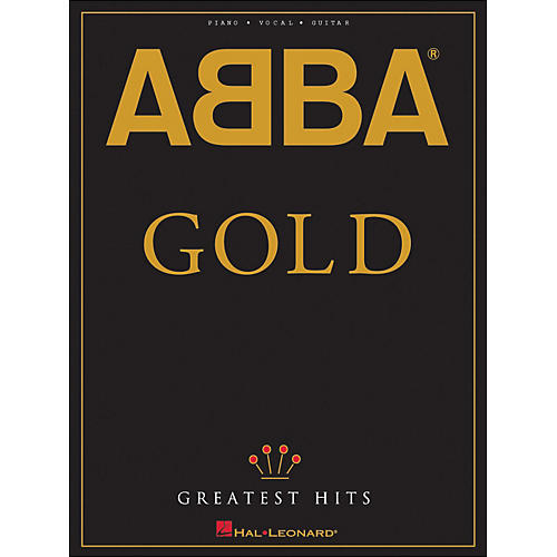 Hal Leonard Abba Gold Greatest Hits arranged for piano, vocal, and guitar (P/V/G)