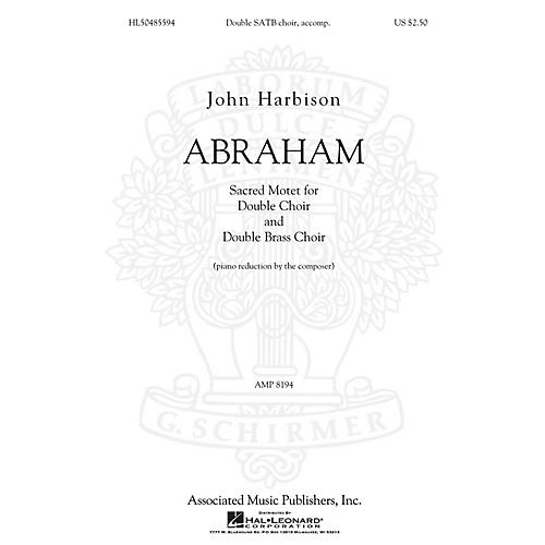 G. Schirmer Abraham SATB composed by John Harbison