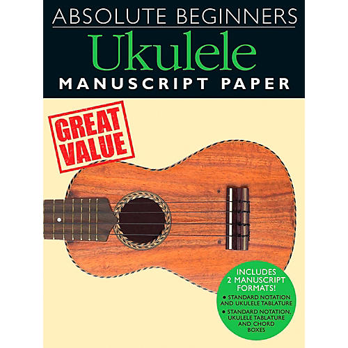 Music Sales Absolute Beginners - Ukulele Manuscript Paper
