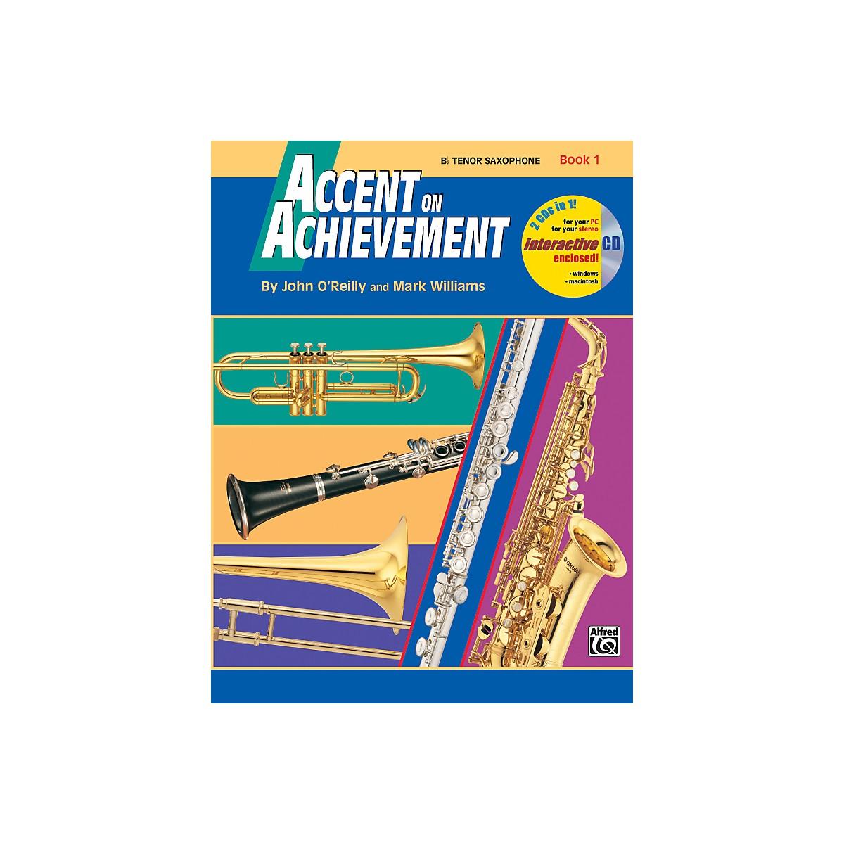 Alfred Accent on Achievement Book 1 Tenor Sax Book & CD
