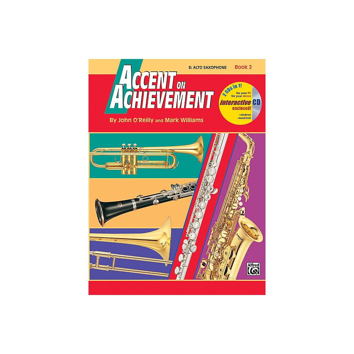 Alfred Accent on Achievement Book 2 E-Flat Alto Saxophone Book & CD