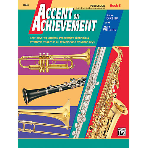 Alfred Accent on Achievement Book 3 PercussionSnare Drum Bass Drum & Accessories