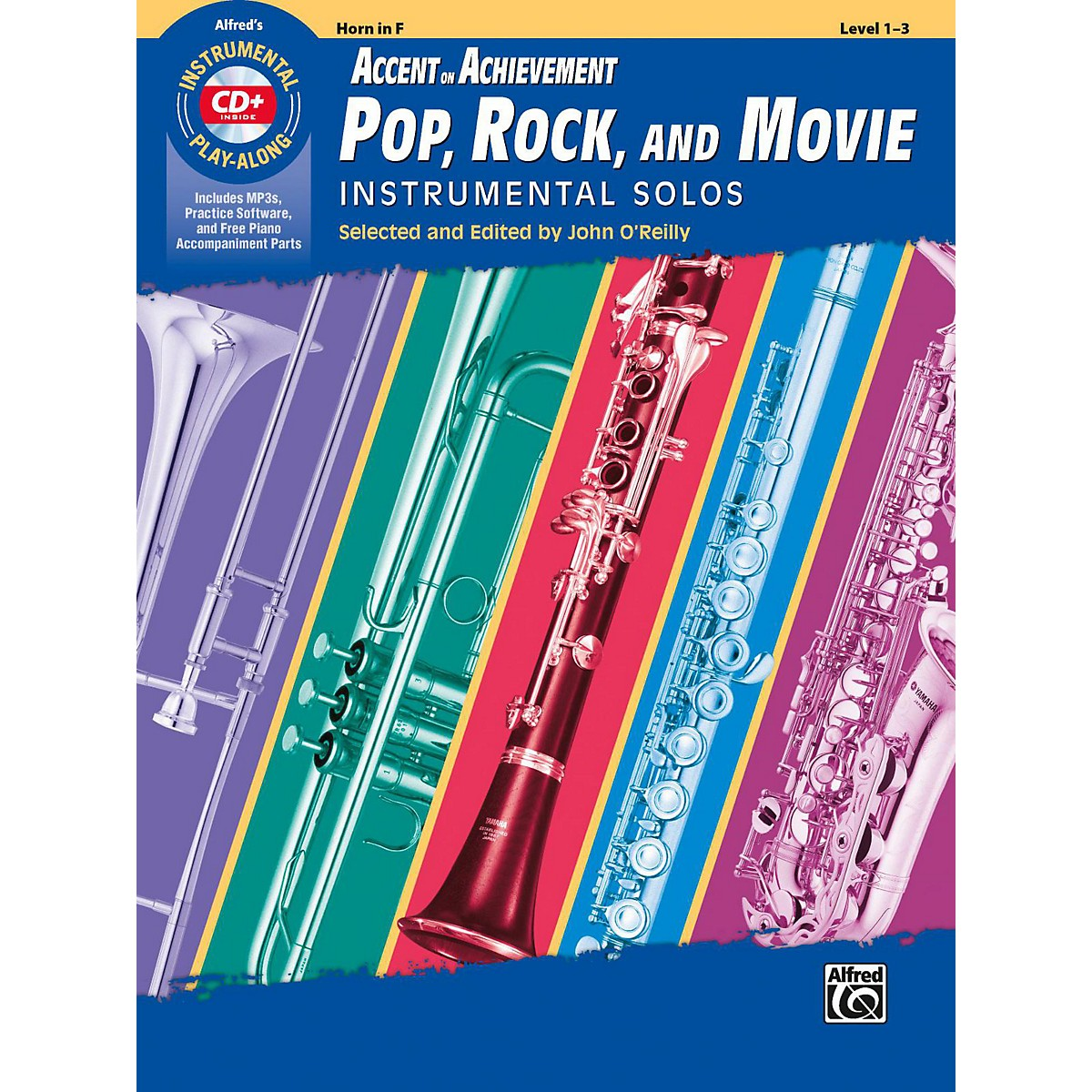Alfred Accent on Achievement Pop, Rock, and Movie Instrumental Solos Horn in F Book & CD