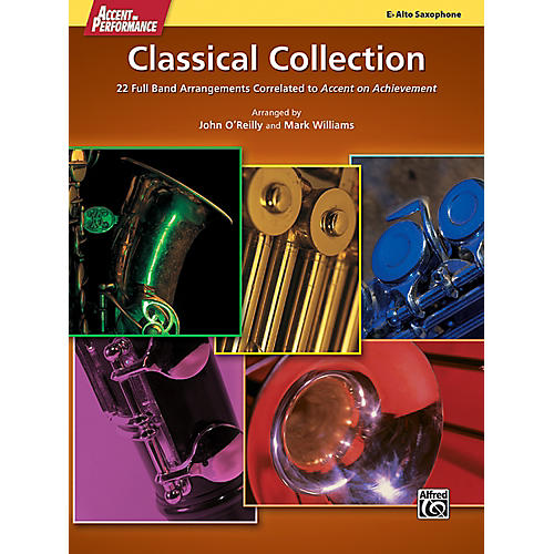 Alfred Accent on Performance Classical Collection Alto Saxophone Book