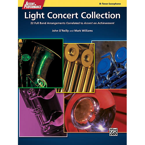 Alfred Accent on Performance Light Concert Collection Tenor Sax Book