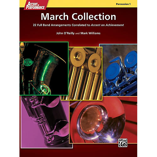 Alfred Accent on Performance March Collection Percussion 1 Book