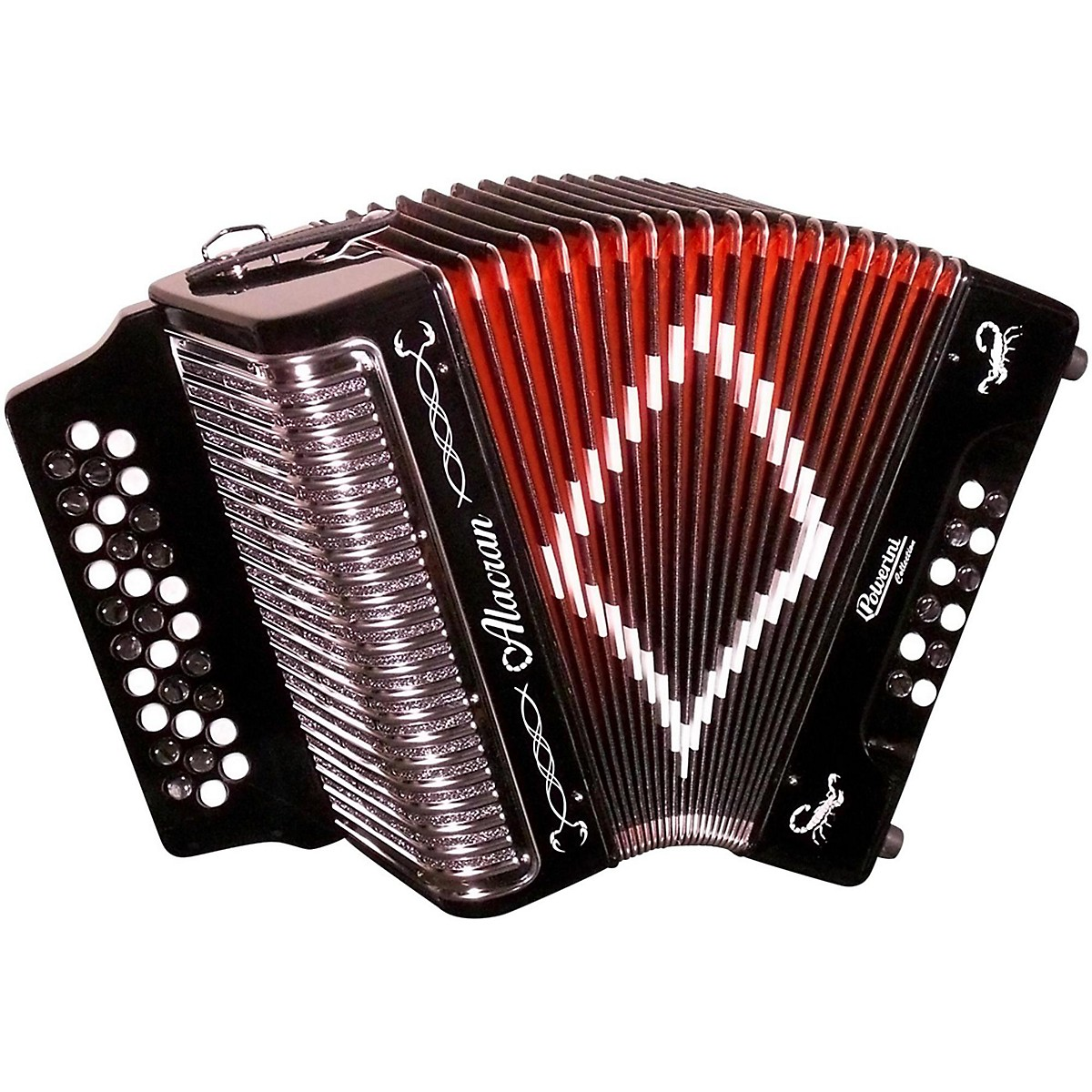 Alacran Accordion AL3112 Black with Case