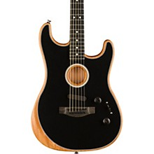 Acoustasonic Stratocaster Acoustic-Electric Guitar Black