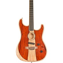 Acoustasonic Stratocaster Exotic Wood Acoustic-Electric Guitar Natural Cocobolo