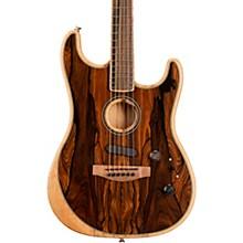 Acoustasonic Stratocaster Exotic Wood Acoustic-Electric Guitar Natural Ziricote