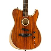 Acoustasonic Telecaster Exotic Acoustic-Electric Guitar Natural Cocobolo
