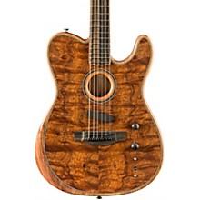 Acoustasonic Telecaster Exotic Wood Acoustic-Electric Guitar Natural Koa