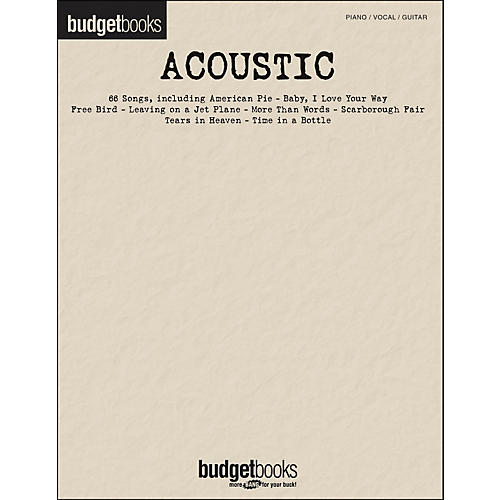 Hal Leonard Acoustic - Budget Book arranged for piano, vocal, and guitar (P/V/G)