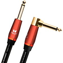 """Monster Cable Acoustic 1/4"""" Angled to StraightInstrument Cable"""