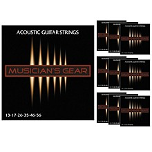 Musician's Gear Acoustic 13 80/20 Bronze Guitar Strings 10-Pack
