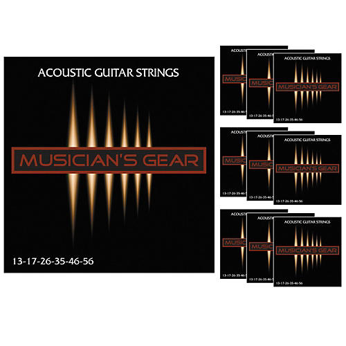 Musician's Gear Acoustic 13 80/20 Bronze Guitar Strings 10-Pack
