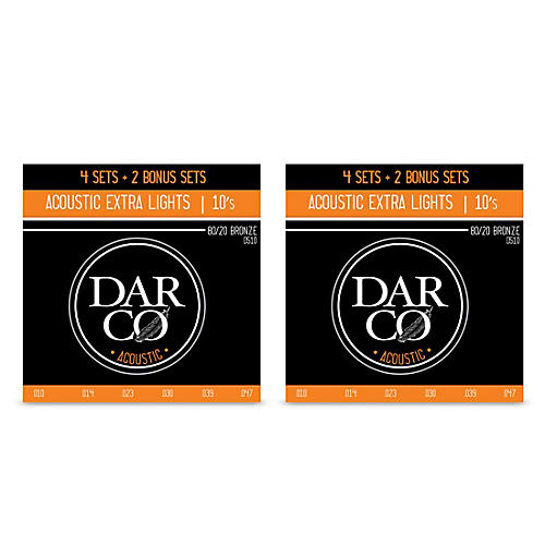 Darco Acoustic 6 Set Value Pack D510 80/20 Extra Light-Extra Light (10-47) 2-Pack