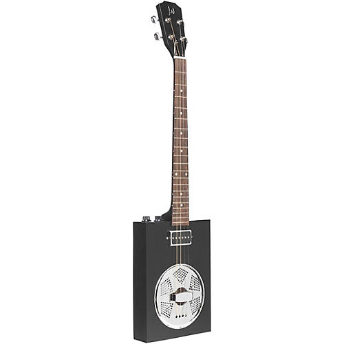 jn guitars acoustic electric cigar box guitar with resonator black guitar center. Black Bedroom Furniture Sets. Home Design Ideas