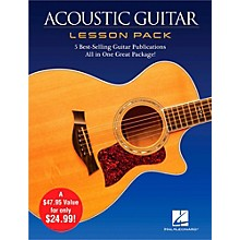 Hal Leonard Acoustic Guitar Lesson Pack - Boxed Set with Four Books & One DVD Level 1