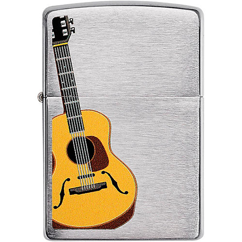Zippo Acoustic Guitar Lighter - Brushed Chrome