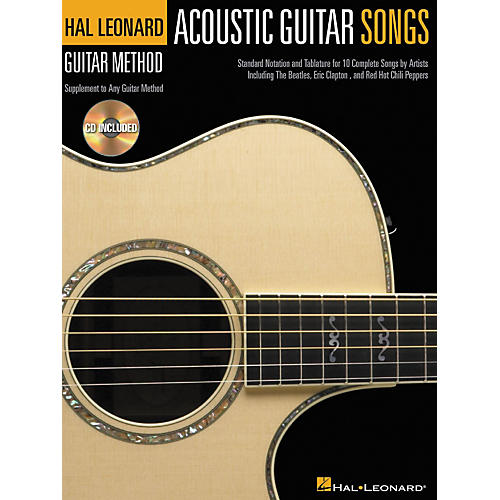 Hal Leonard Acoustic Guitar Songs Method Suppliment Book with CD