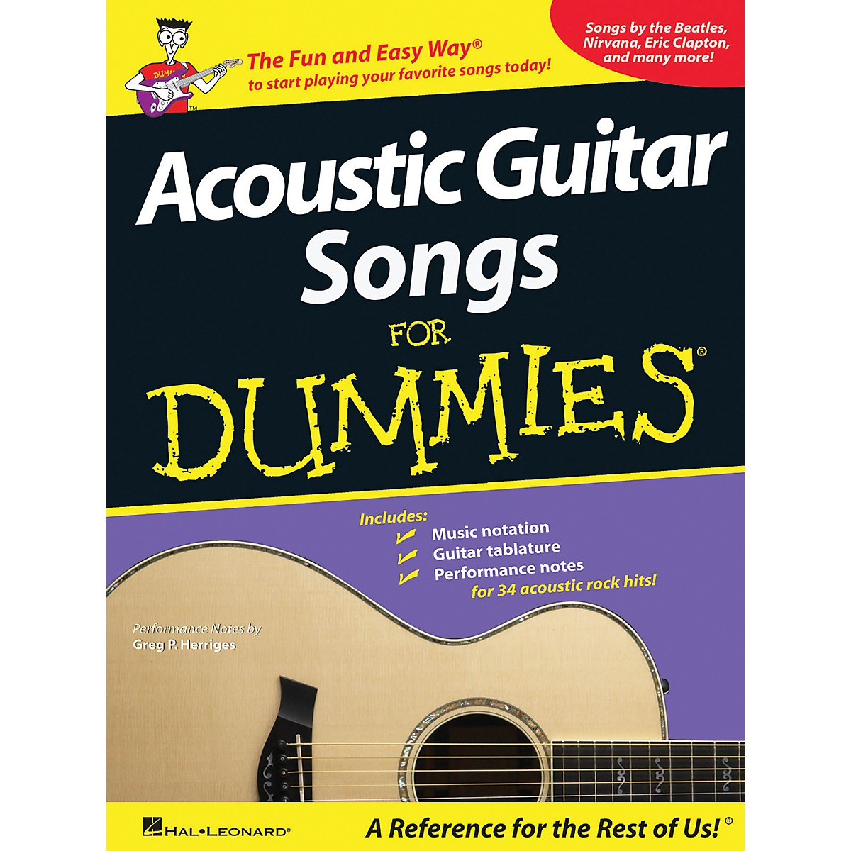 Hal Leonard Acoustic Guitar Songs for Dummies - Book