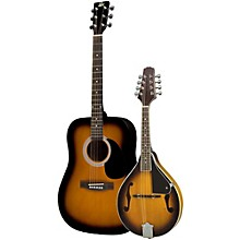 Acoustic Guitar and Mandolin Pack Sunburst Sunburst