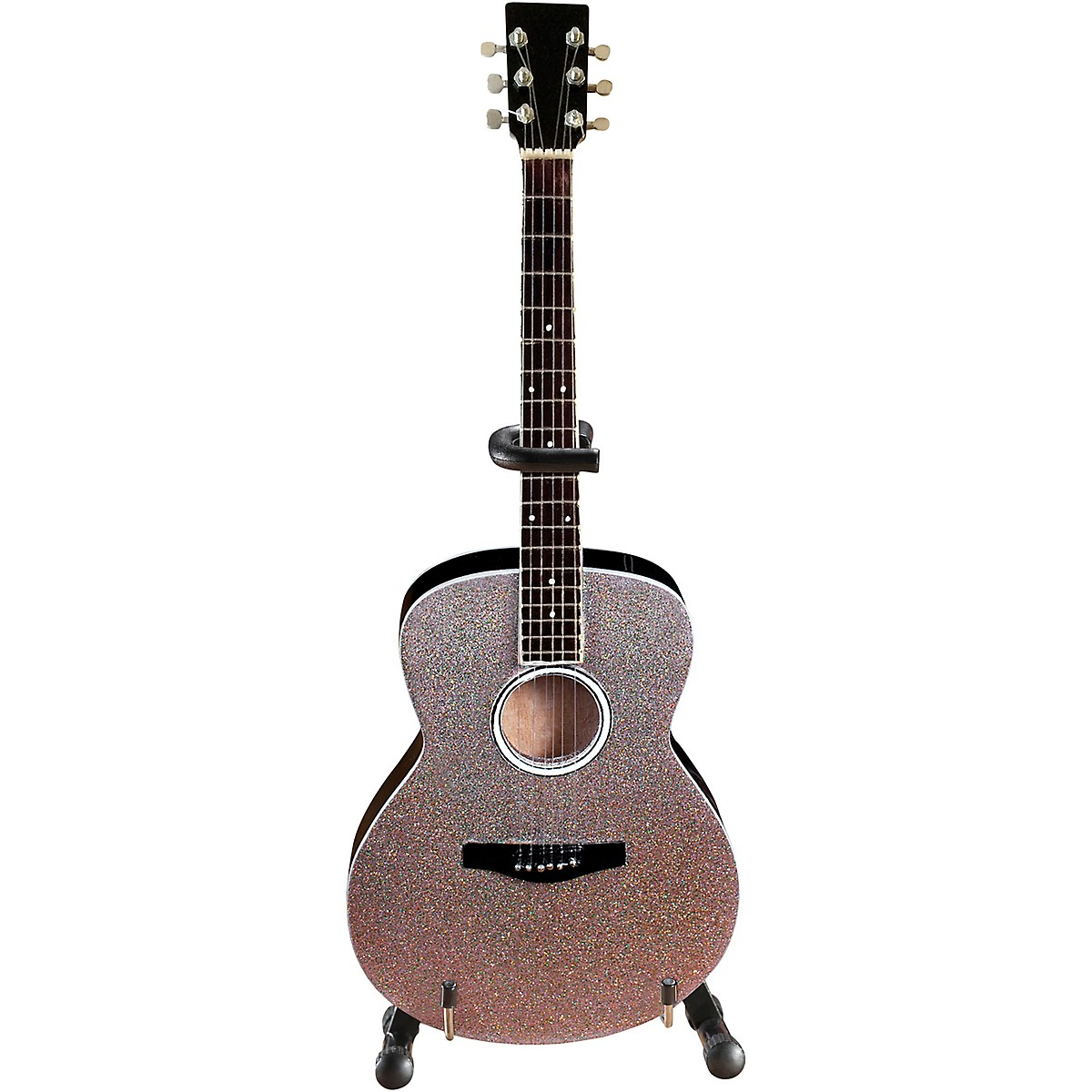 Axe Heaven Acoustic Guitar with Glitter Rhinestone Finish Officially Licensed Miniature Guitar Replica