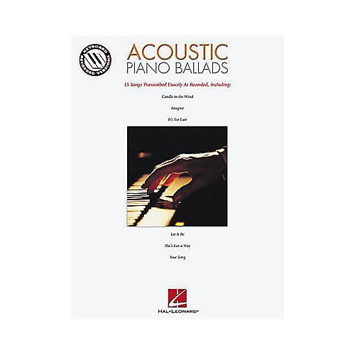 Hal Leonard Acoustic Piano Ballads Songbook