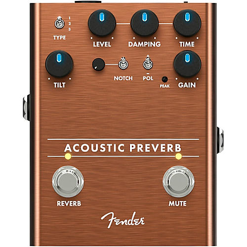Fender Acoustic Preamp/Reverb Effects Pedal