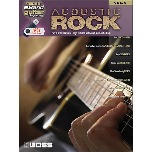 Hal Leonard Acoustic Rock Guitar Play- Along Volume 6 (Boss eBand Custom Book with USB Stick)