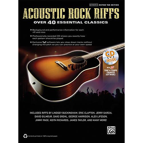 Alfred Acoustic Rock Riffs Guitar Book & CD